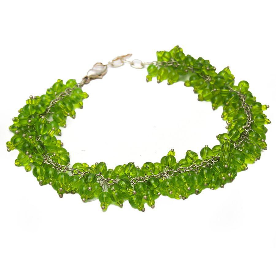 елегантна зелена гривна
