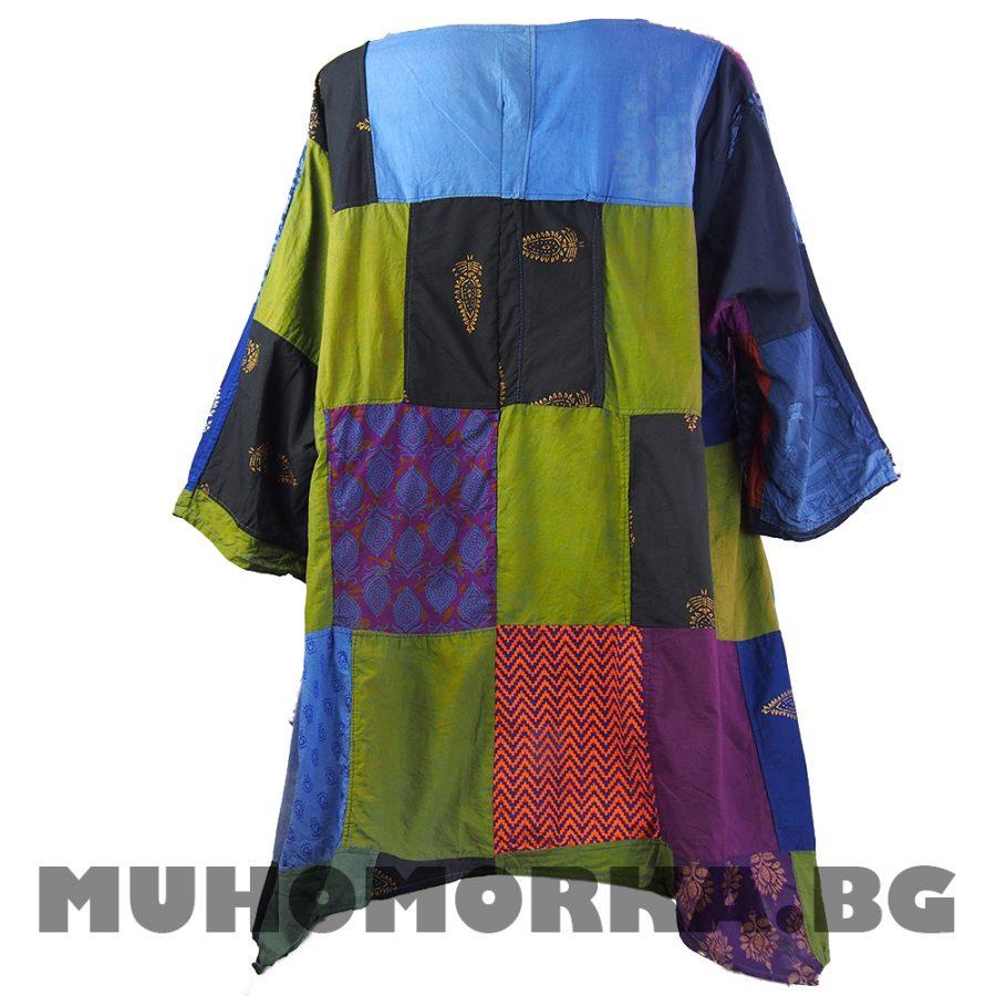 Блуза кимоно оверсайз пачуърк