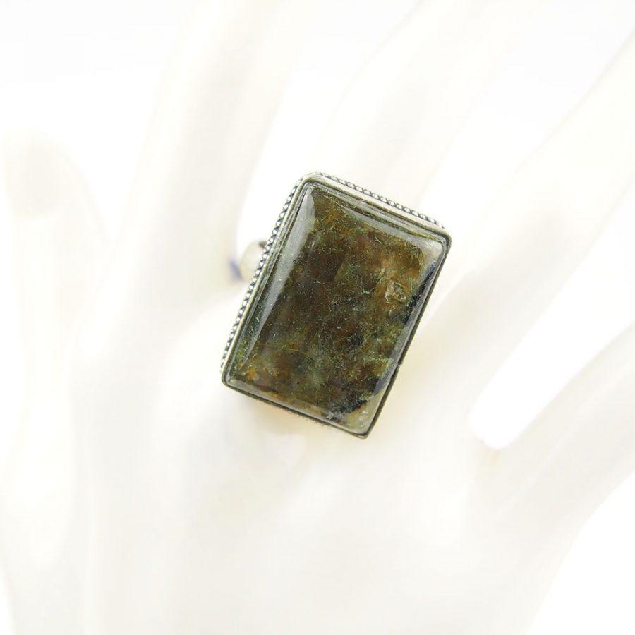 бохо пръстен с лабрадорит полускъпоченен камък с пламъкммм