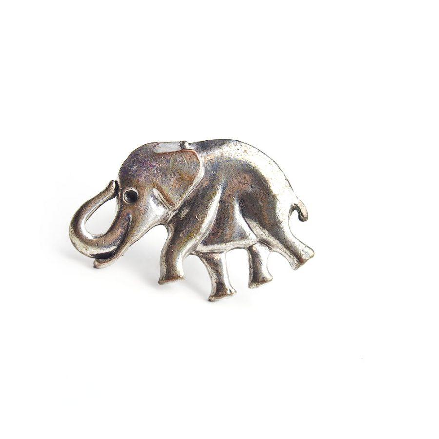 сребрен пръстен слон