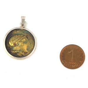 гръцка монета сребро 925 проба медальон