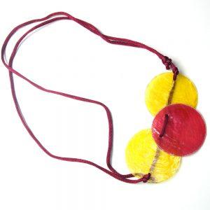червено-жълто КОЛИЕ