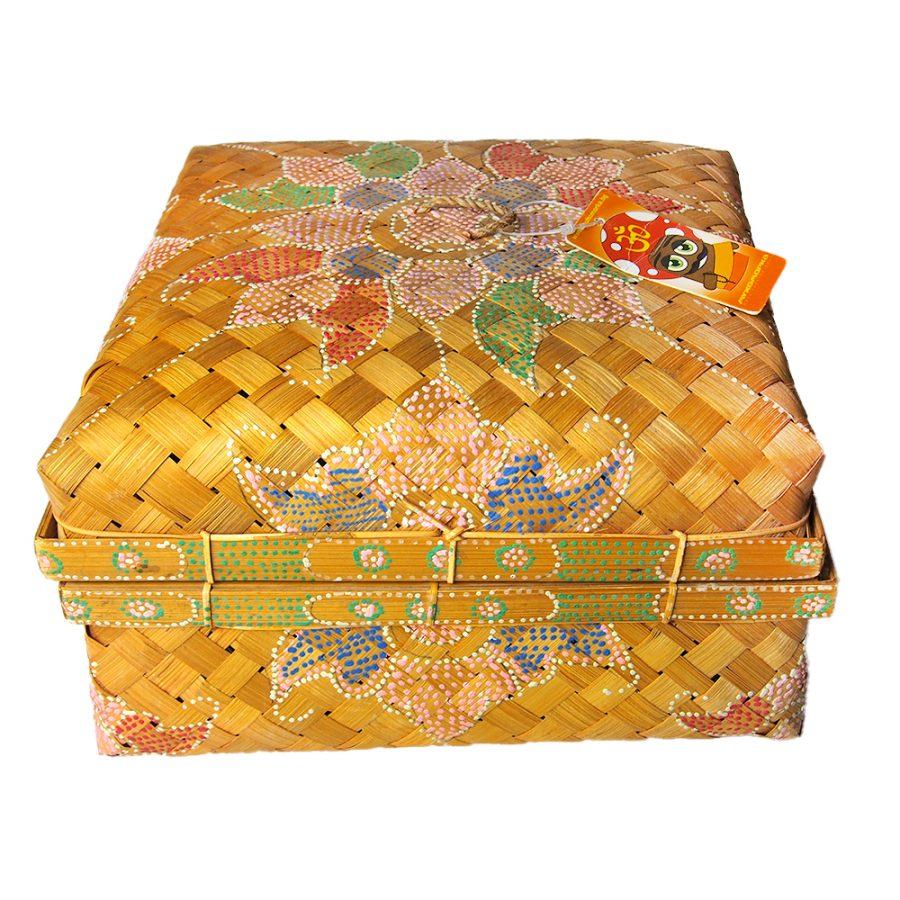 еко плетена кутия с капак