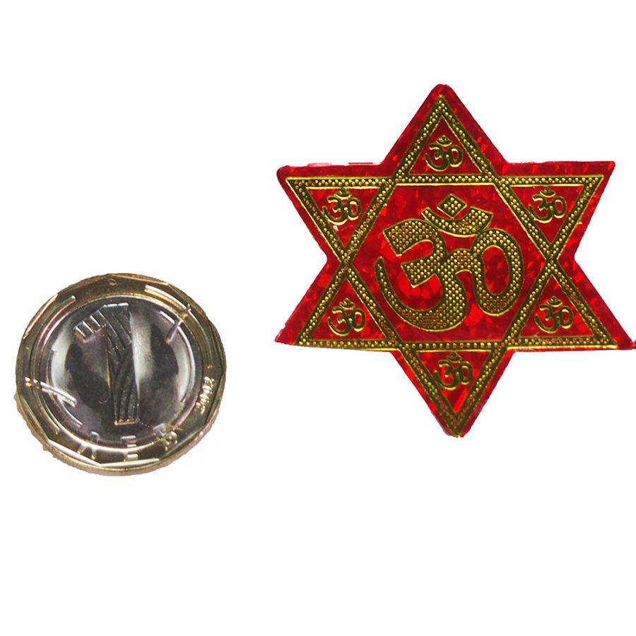 лепенка Ом и звезда на хануман