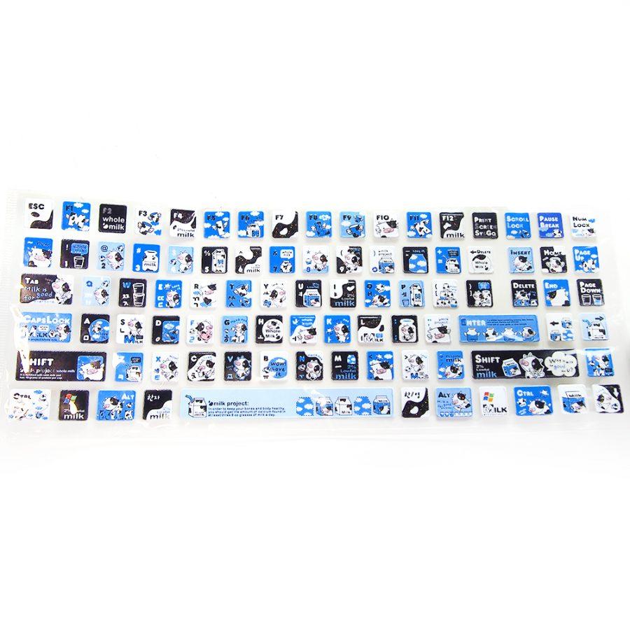 сини лепенки за клавиатура млечни