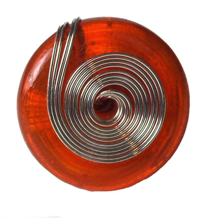 Стъклен бохо пръстен голям