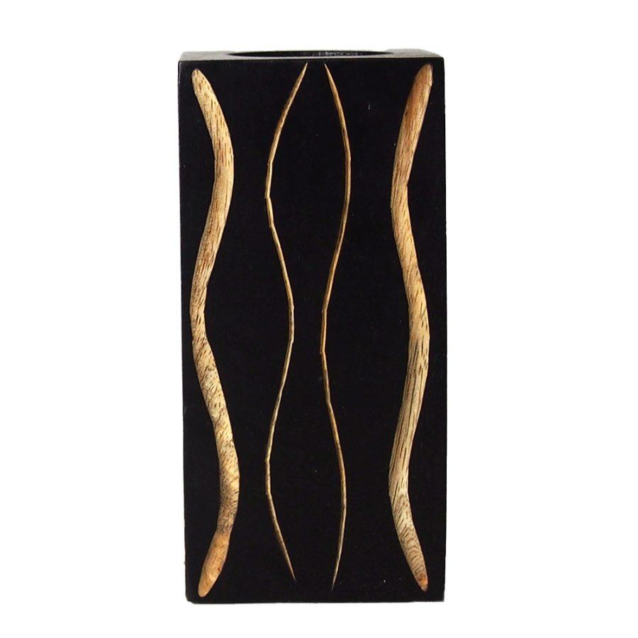 дървен свещник