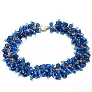 елегантна синя гривна