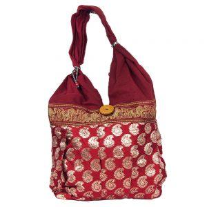 бохо чанта със златни нишки