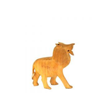 дървена статуетка лъв