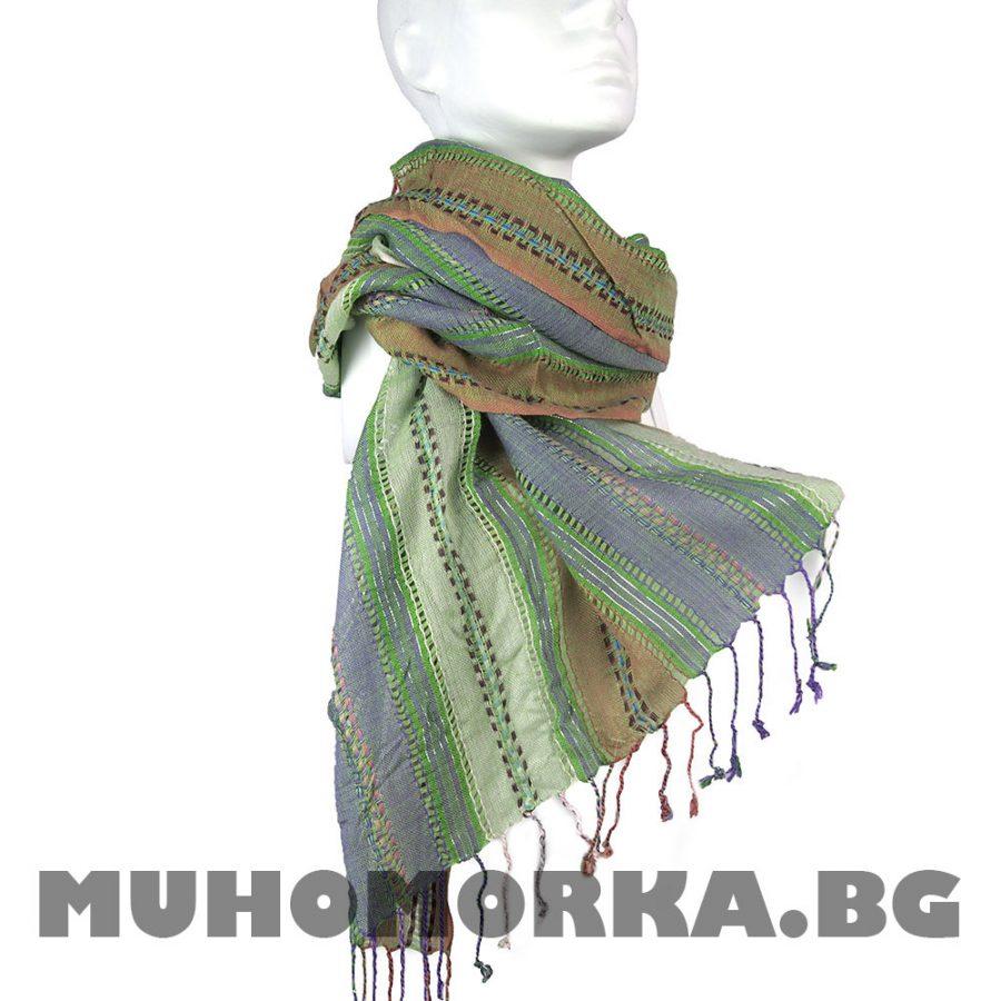 зелен шал