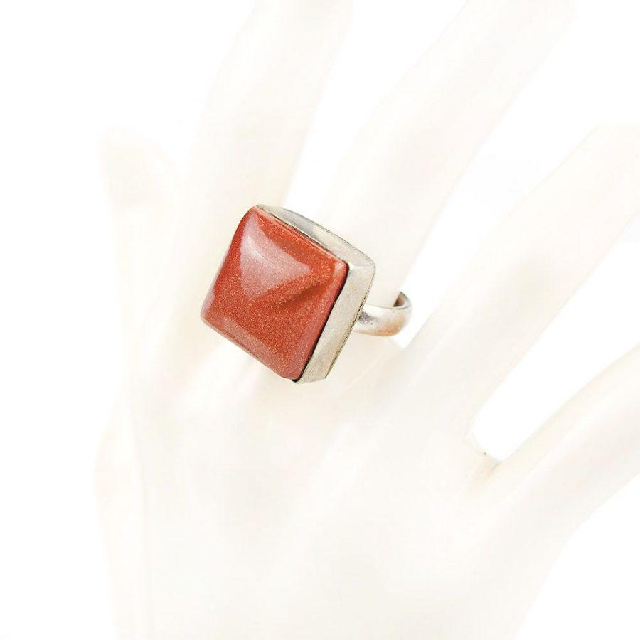 пръстен с авантюринМ