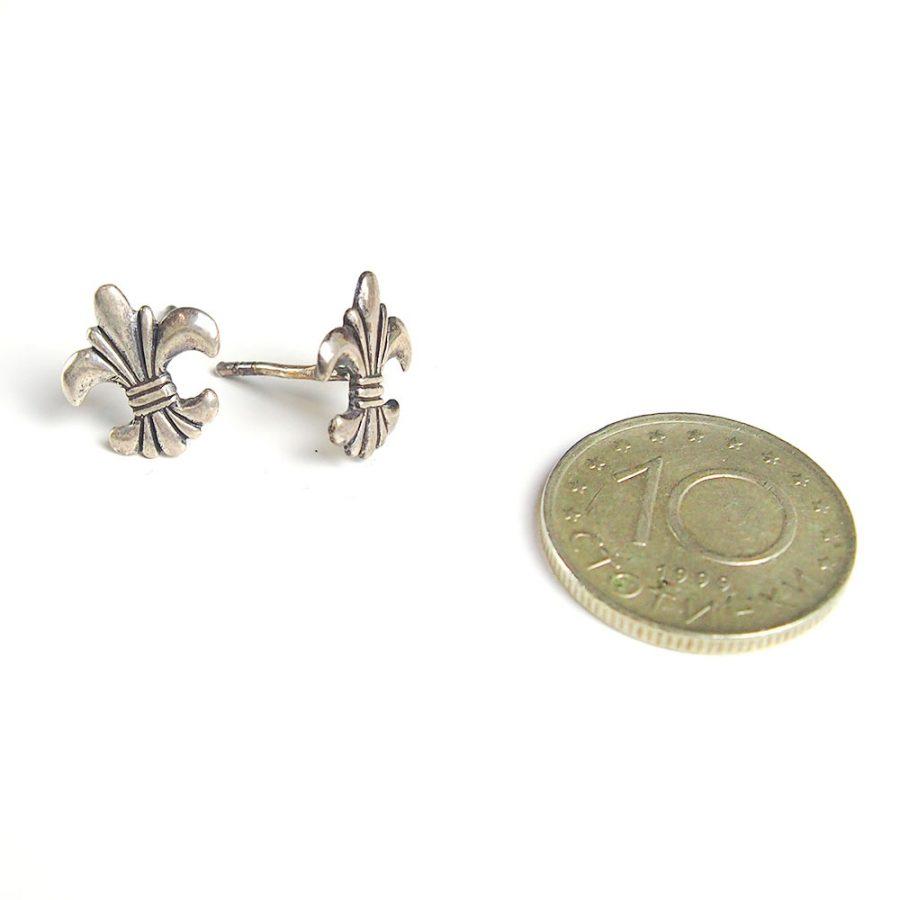 сребърни обеци хералдична лилия