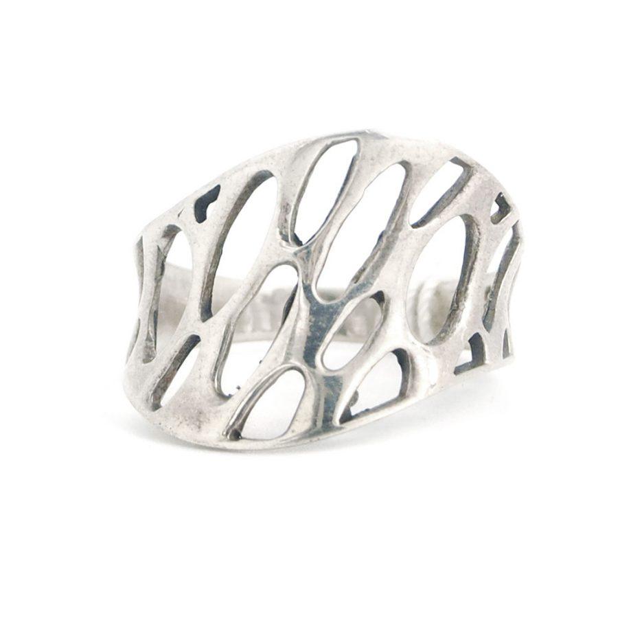 абстрактен пръстен сребро 925