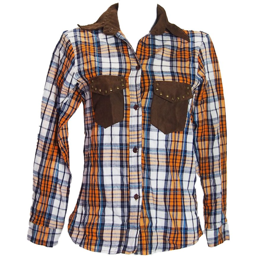 каубойска риза оранжева