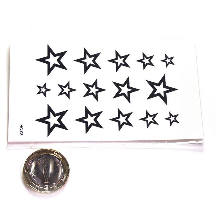 татуировка черни звезди