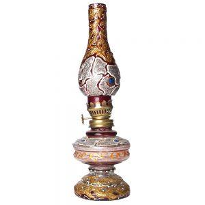 стъклена масляна лампа